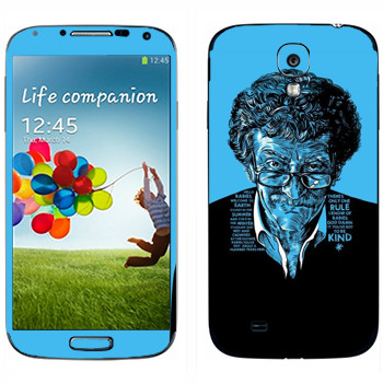 Виниловая наклейка «Kurt Vonnegut : Got to be kind» на телефон Samsung Galaxy S4