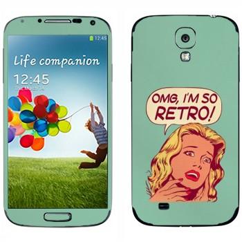 Виниловая наклейка «OMG I'm So retro» на телефон Samsung Galaxy S4