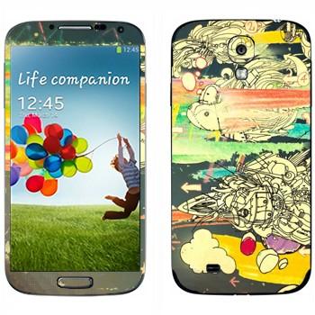 Виниловая наклейка «Абстрактное мышление» на телефон Samsung Galaxy S4