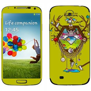 Виниловая наклейка «Алмазы Oblivion» на телефон Samsung Galaxy S4