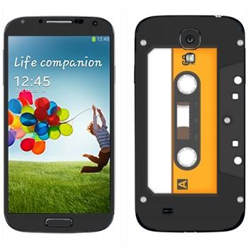 Виниловая наклейка «Аудио-кассета» на телефон Samsung Galaxy S4