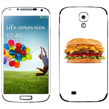 Виниловая наклейка «Большой гамбургер» на телефон Samsung Galaxy S4