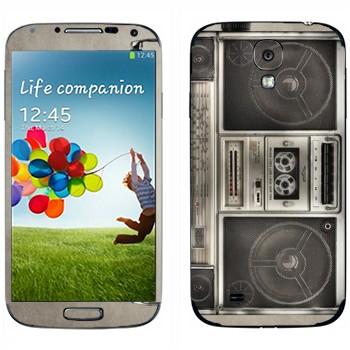 Виниловая наклейка «Бумбокс кассетный» на телефон Samsung Galaxy S4
