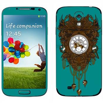 Виниловая наклейка «Часы дизайнерские» на телефон Samsung Galaxy S4