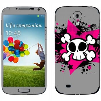 Виниловая наклейка «Череп - Эмо» на телефон Samsung Galaxy S4