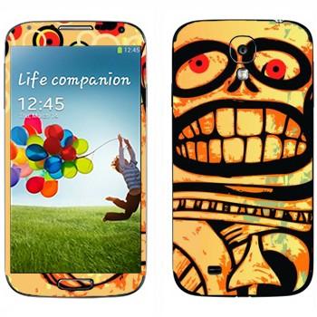 Виниловая наклейка «Череп Ацтеки» на телефон Samsung Galaxy S4