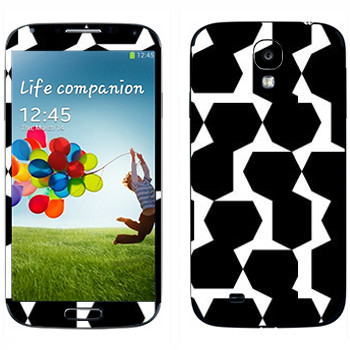 Виниловая наклейка «Черные многоугольники - Georgiana Paraschiv» на телефон Samsung Galaxy S4