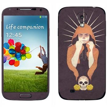 Виниловая наклейка «Девушка-смерть» на телефон Samsung Galaxy S4