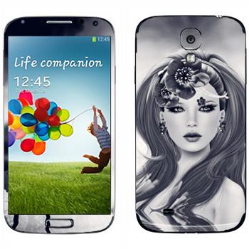 Виниловая наклейка «Девушка в воде» на телефон Samsung Galaxy S4