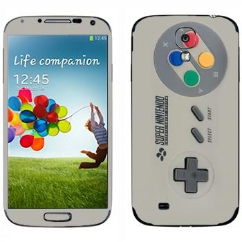Виниловая наклейка «Джойстик Super Nintendo» на телефон Samsung Galaxy S4