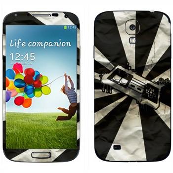 Виниловая наклейка «Джойстик от приставки ретро» на телефон Samsung Galaxy S4