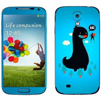Виниловая наклейка «Дракон и супермэн» на телефон Samsung Galaxy S4