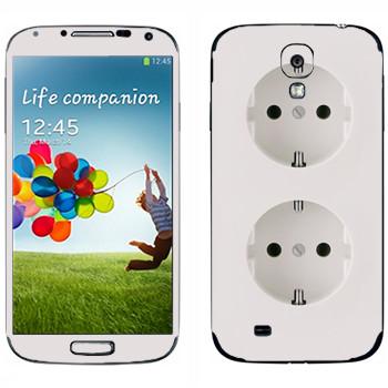 Виниловая наклейка «Двойная розетка» на телефон Samsung Galaxy S4