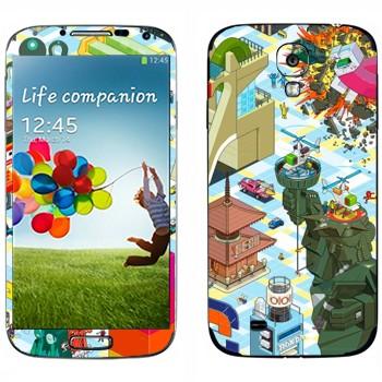 Виниловая наклейка «eBoy -  пиксельная графика» на телефон Samsung Galaxy S4