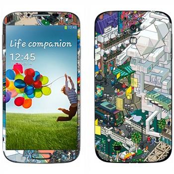 Виниловая наклейка «eBoy - Париж» на телефон Samsung Galaxy S4