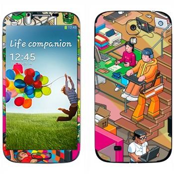 Виниловая наклейка «eBoy - студия» на телефон Samsung Galaxy S4