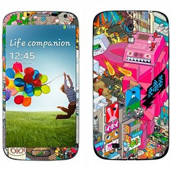 Виниловая наклейка «eBoy - Токио» на телефон Samsung Galaxy S4