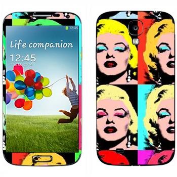 Виниловая наклейка «Энди Уорхол - Мэрилин Монро» на телефон Samsung Galaxy S4