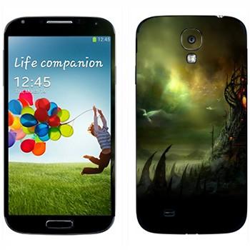 Виниловая наклейка «Где обитает страх» на телефон Samsung Galaxy S4