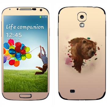 Виниловая наклейка «Гризли - Kisung» на телефон Samsung Galaxy S4