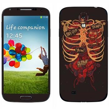 Виниловая наклейка «Грудь мертвеца» на телефон Samsung Galaxy S4