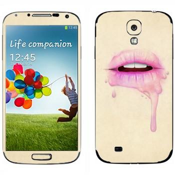 Виниловая наклейка «Губы малинового цвета» на телефон Samsung Galaxy S4