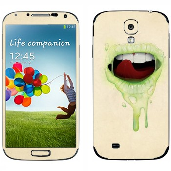 Виниловая наклейка «Губы цвета лайм» на телефон Samsung Galaxy S4