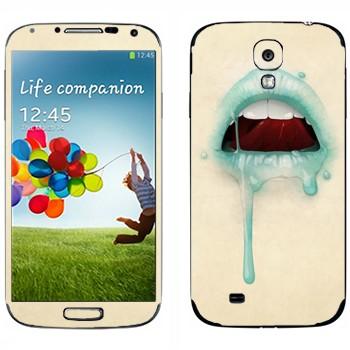 Виниловая наклейка «Губы» на телефон Samsung Galaxy S4