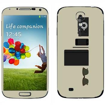Виниловая наклейка «Хипстерский набор» на телефон Samsung Galaxy S4