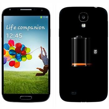 Виниловая наклейка «Индикатор низкий заряд батареи» на телефон Samsung Galaxy S4