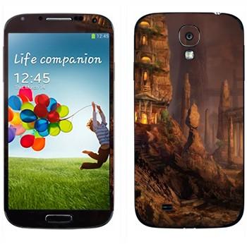 Виниловая наклейка «Каменный город» на телефон Samsung Galaxy S4