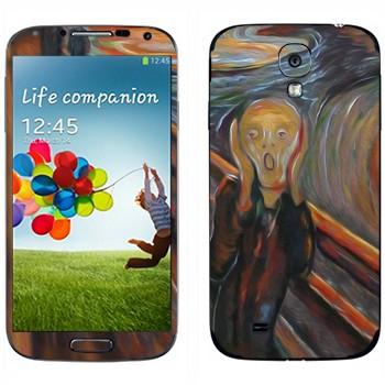 "Виниловая наклейка «Картина Эдварда Мунка ""Крик""» на телефон Samsung Galaxy S4"