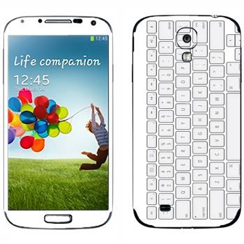 Виниловая наклейка «Клавиатура» на телефон Samsung Galaxy S4