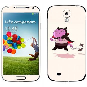 Виниловая наклейка «Кот-вампир» на телефон Samsung Galaxy S4