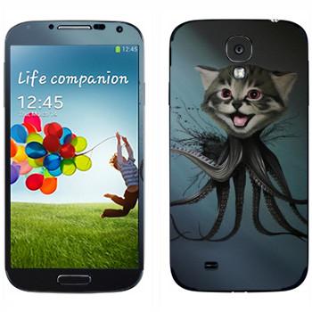 Виниловая наклейка «Котенок-осьминог - Robert Bowen» на телефон Samsung Galaxy S4