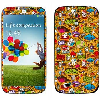 Виниловая наклейка «Креативный шаблон» на телефон Samsung Galaxy S4