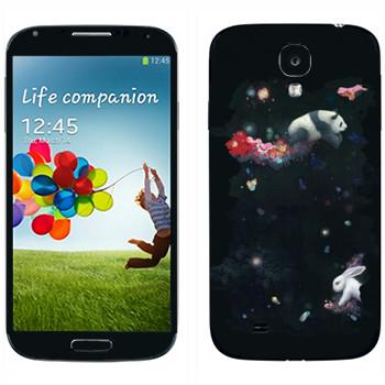Виниловая наклейка «Кролик и панда - Kisung» на телефон Samsung Galaxy S4