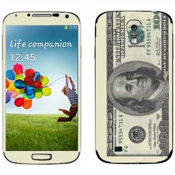 Виниловая наклейка «Купюра сто долларов» на телефон Samsung Galaxy S4