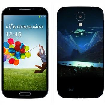 Виниловая наклейка «Лунная ночь - Архип Куинджи» на телефон Samsung Galaxy S4