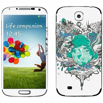 Виниловая наклейка «Лягушка и бриллиант» на телефон Samsung Galaxy S4