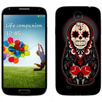 Виниловая наклейка «Матрешка-череп» на телефон Samsung Galaxy S4