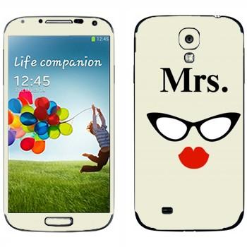 Виниловая наклейка «Миссис» на телефон Samsung Galaxy S4