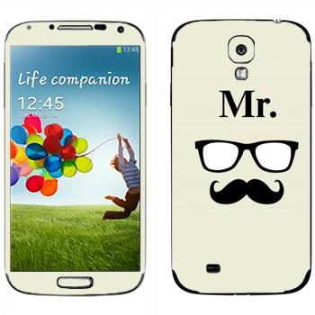 Виниловая наклейка «Мистер» на телефон Samsung Galaxy S4