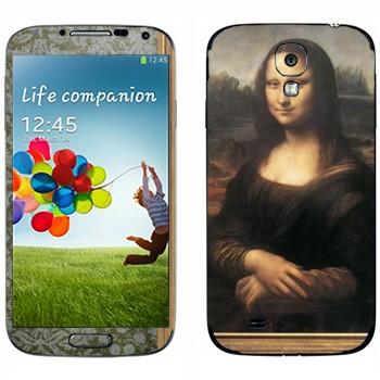 Виниловая наклейка «Мона Лиза - Леонардо да Винчи» на телефон Samsung Galaxy S4