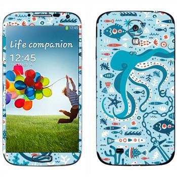 Виниловая наклейка «Морская жизнь» на телефон Samsung Galaxy S4
