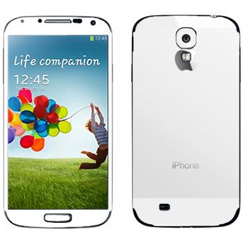 Виниловая наклейка «Наклейка под белый iPhone 5» на телефон Samsung Galaxy S4