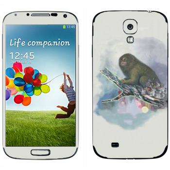 Виниловая наклейка «Обезьяна на ветке - Kisung» на телефон Samsung Galaxy S4