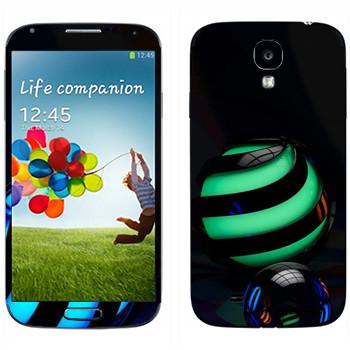 Виниловая наклейка «Объемные шары» на телефон Samsung Galaxy S4