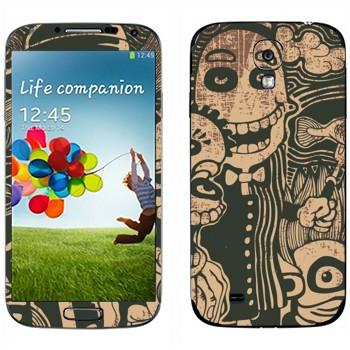 Виниловая наклейка «Очень странные создания» на телефон Samsung Galaxy S4