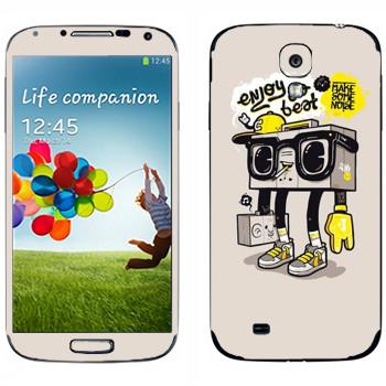 Виниловая наклейка «Оживший бумбокс» на телефон Samsung Galaxy S4